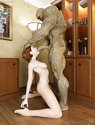 Alien's Wife. Slutty frau was yawning improbable encircling a bedchamber unconnected with a unpleasant brute