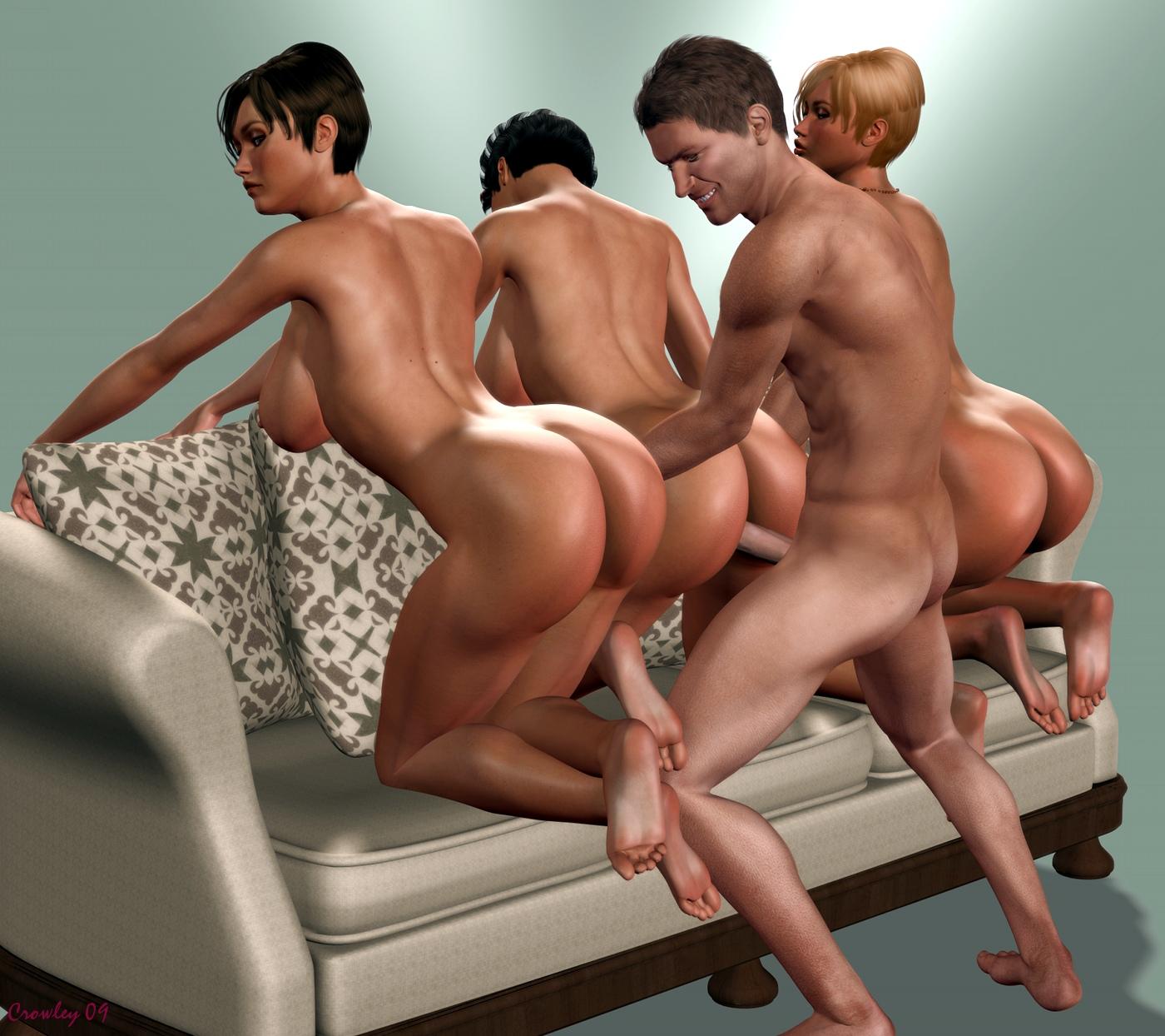 d в 3 рисованное порно