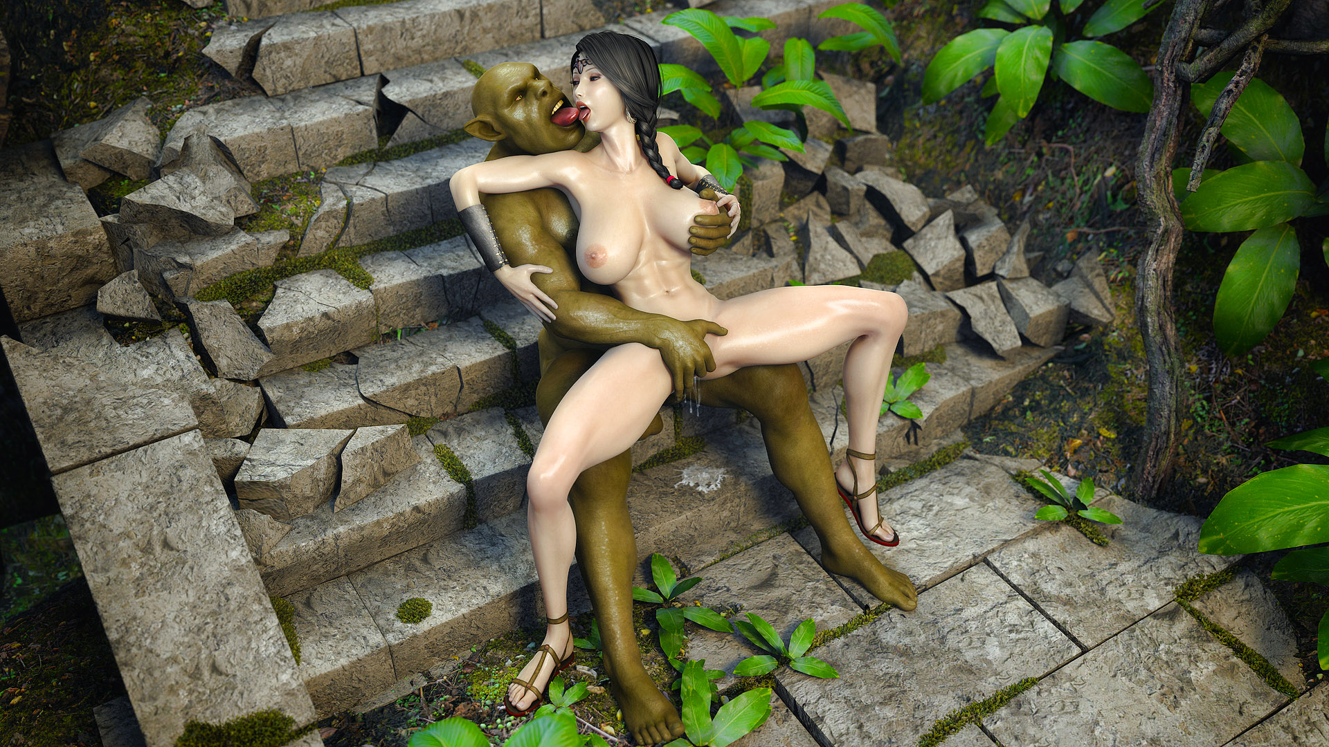 Elf princess fucked by a ogre sex  anime galleries