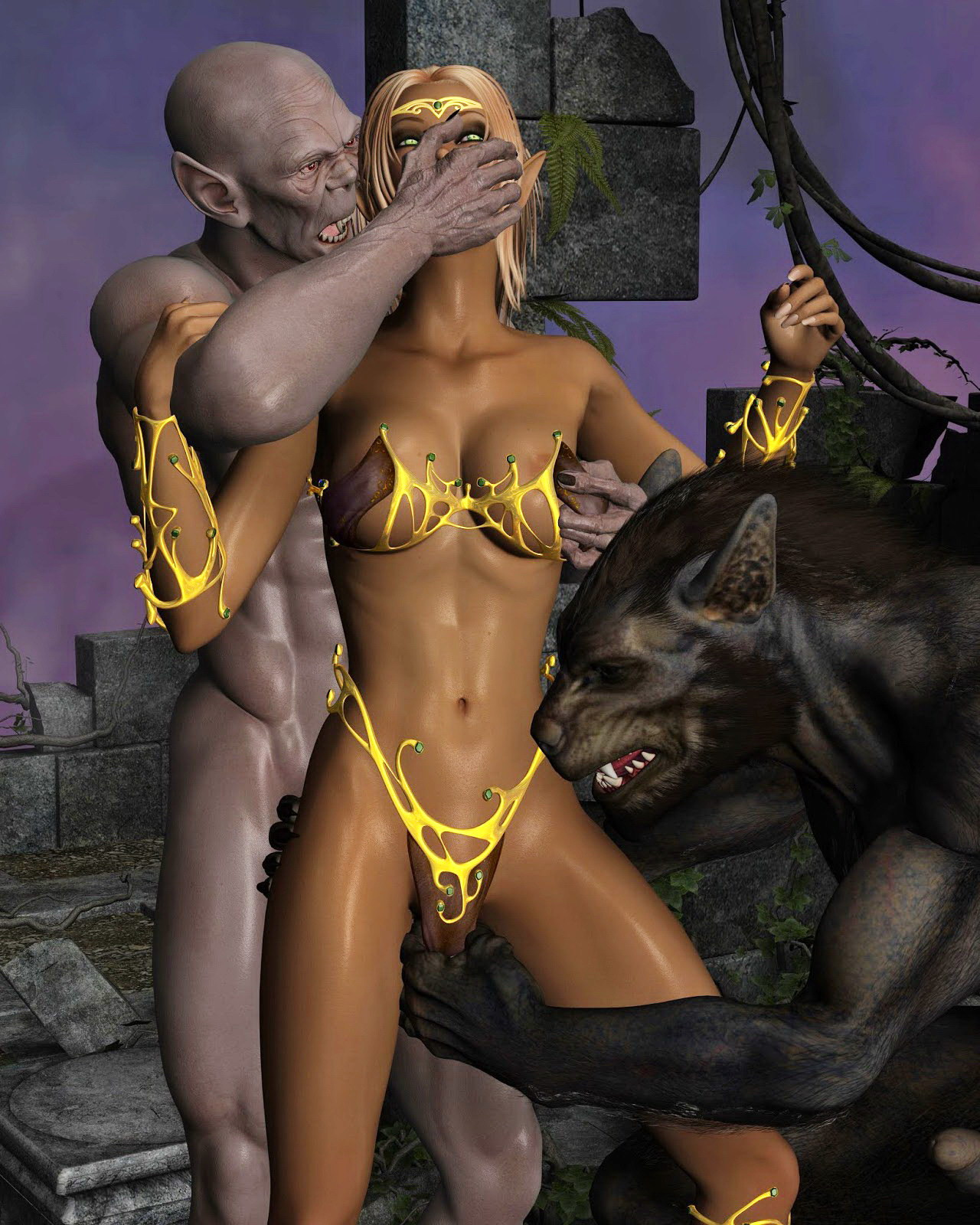 Porn cartoon with werewolves erotic movie