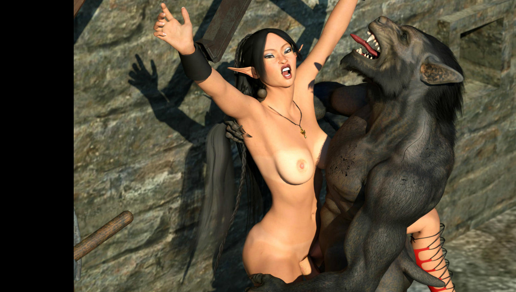 Cartoon porn werwolf naked scene